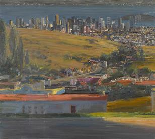 Larry Cohen-(born 1952)-View of San Francisco from Mt. Parnassus,- 1993-2009 32 x 32in. (81.3 x 81.3cm)