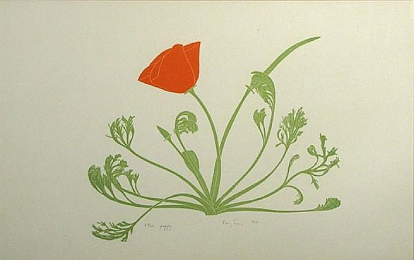 Henry Evans (American, 1918-1990); A Group of Four Botanical Prints; (4)