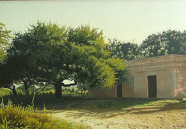 Marcos Borio (Argentinian, born 1949) La Siesta, Camino a San José de la Quintana, 1990 27 1/2 x 39 1/2in