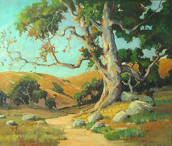 John Maitland Reinhard (American, 1893-1959) Trees in a landscape 24 x 28in