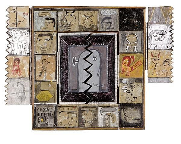 Michael Nakoneczny (American, born 1952) Smoking Girl, 1999 14 x 19 x 1 15/8in