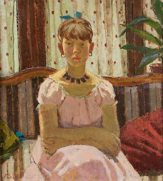 Edward Le Bas (British, 1904-1966) Girl in Pink