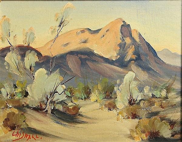 Frederick Richard Chisnall (1887-1965) Desert landscapes (group of 3) each 8 x 10in