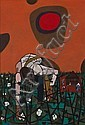 Robert Gwathmey (American, 1903-1988) Man picking cotton 16 x 11in, Robert Gwathmey, Click for value