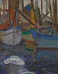 Charles Earl Bradbury (American, 1888-1967) Gloucester harbor 20 x 16in