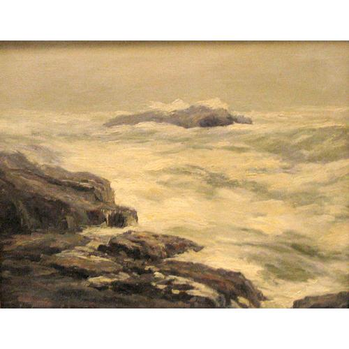 George Sumner Colman Rocky Coastline Oil