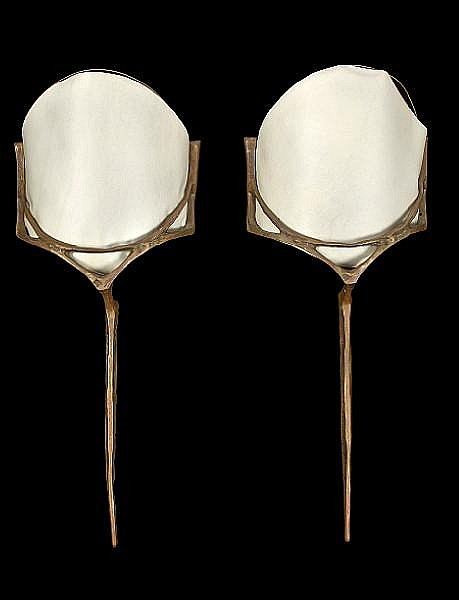A pair of bronze sconces in the manner of Felix Agostini, 1960s