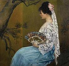 LOUIS BETTS (1873-1961) A Spanish beauty signed and dated 'Louis