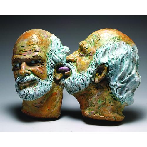 A Robert Arneson ceramic sculpture: Ear Piece