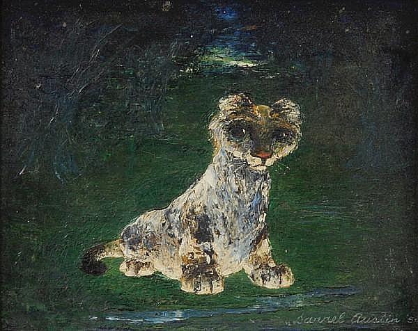 Darrel Austin (American, 1907-1994) Cub by a Little Brook, 1950 8 x 10in
