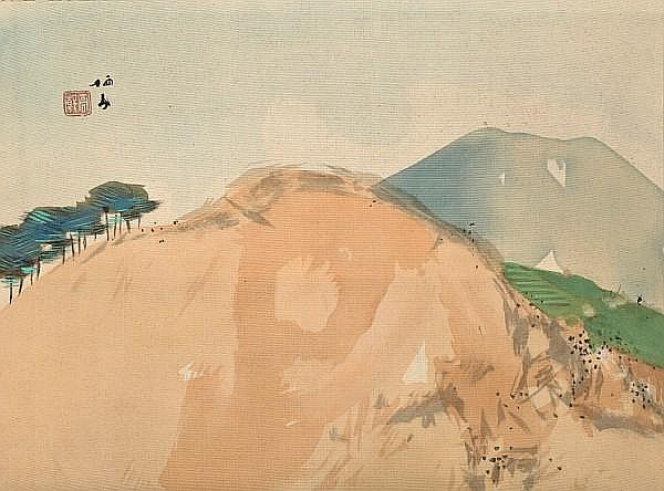 TAKEUCHI SEIHO (1864-1942) Mountain Landscape