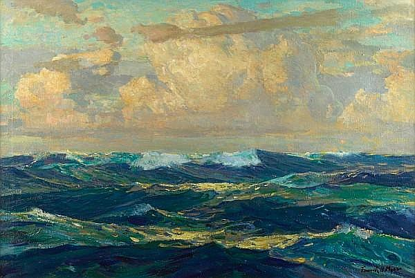 Frank Harmon Myers (American, 1899-1956) 'Evening Splendor' 24 x 36in