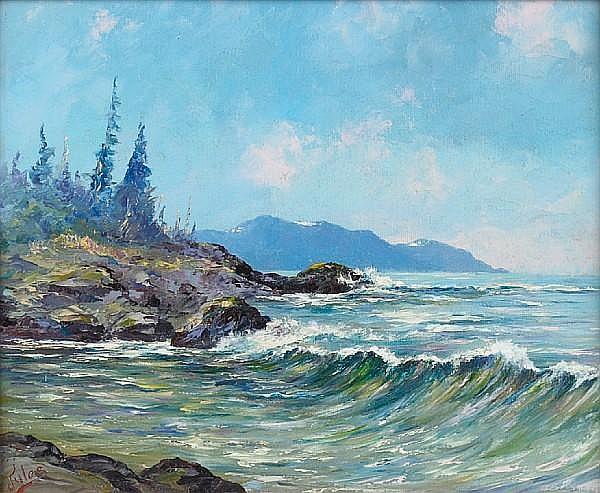 Jules B. Dahlager (American, 1884-1952) Alaska, near Ketchikan 10 x12in