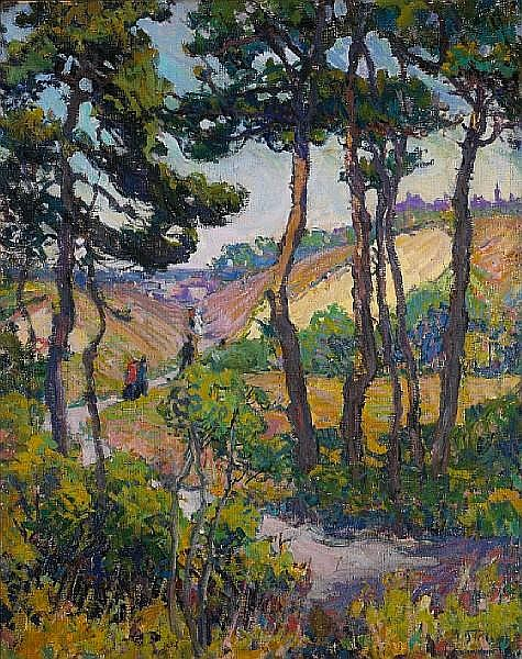 Mary Bradish Titcomb (American, 1858-1927) Through the dunes 30 x 24in