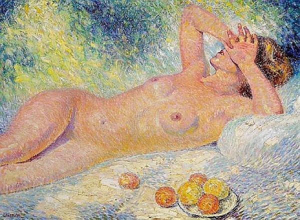William Clapp (1879-1954) 'Reclining Nude (Vitamin D)', 1938 30 x 36in