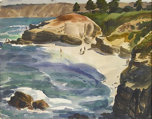 Charles Payzant (American, 1898-1980) La Jolla cove 20 x 25 1/2in