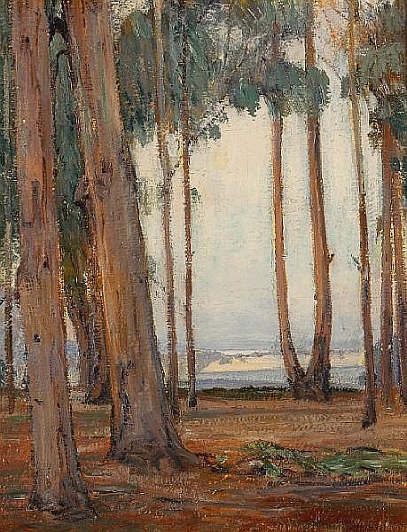 Peter Nielsen (American, 1873-1965) 'Eucalyptus grove' 18 x 14in