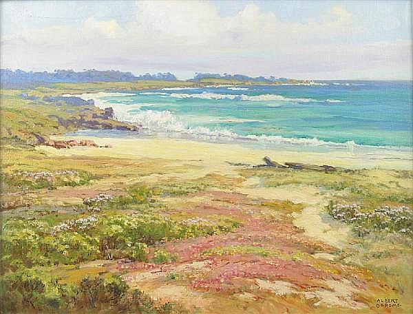 Albert DeRome (American, 1885-1959) 'Cypress Point Spring on 17 Mile Drive', 1951 18 x 24in