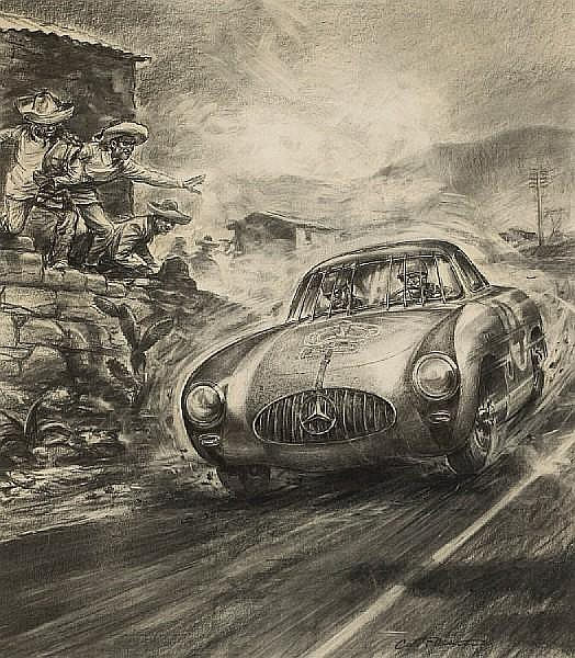 Carlo Demand (1921-2000), 'Carrera Panamericana 1952',