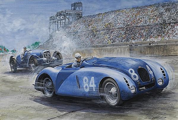 Carlo Demand (1921-2000); French Grand Prix, Montlhery, 28 June 1936,