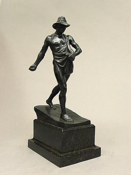 A German patinated bronze figure: The Grain Sower