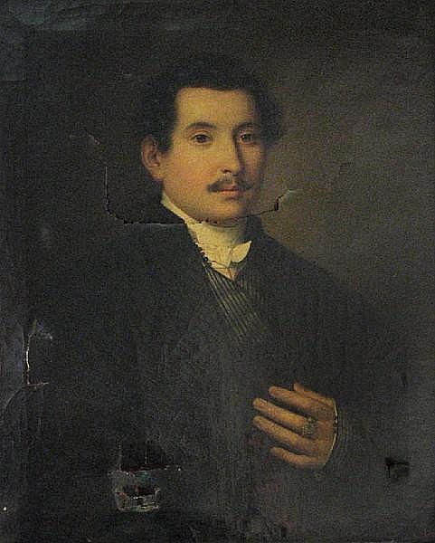 Johann Baptist III (Giovanni) Lampi (Austrian, 1807-1857) A portrait of a gentleman, half-length 28 x 23in