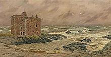 John Brett, ARA (British, 1831-1902) South-east gale at Port-na