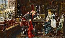 Jose Gallegos y Arnosa (Spanish, 1859-1917) The next move 11 3/