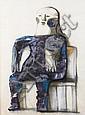Morris Broderson (American, born 1928) Seated figure 1959 Seated figure, 1959 33 x 25in, Morris Gaylord Broderson, Click for value