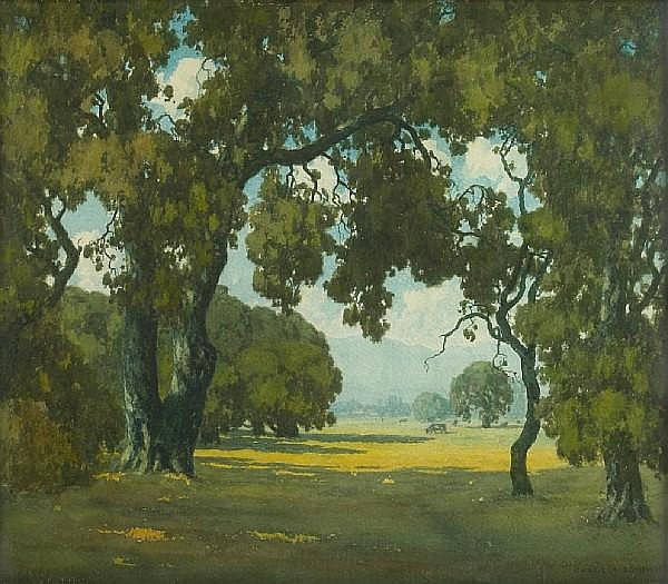 Charles L.A. Smith (American, 1871-1937) In the Santa Maria Valley 20 x 24in
