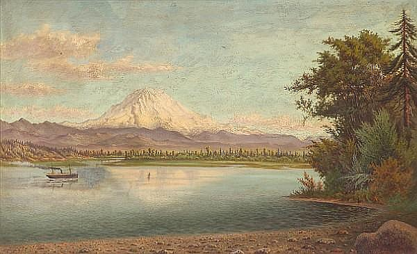 Grafton Tyler Brown (American, 1841-1918) Mt. Tacoma, September Effect, 1885 26 x 42in