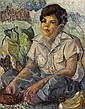 Shirley Marie Russell (American, 1886-1985) A Portrait of Kapuu 32 x 25in, Shirley Marie Hopper Russell, Click for value