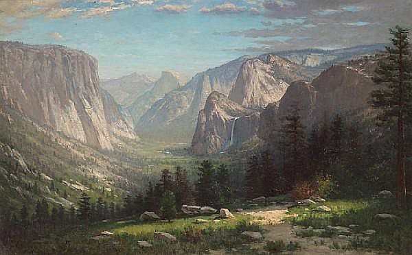 Hiram Reynolds Bloomer (American, 1845-1911) Yosemite Valley, 1877 28 1/2 x 45 1/2in