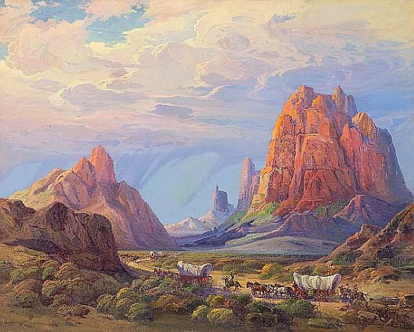 Fred Grayson Sayre (American, 1879-1939) Monument Valley 40 x 50in