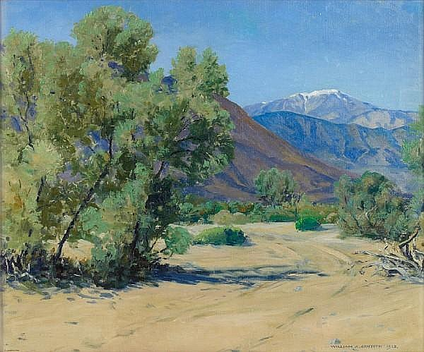 William A. Griffith (American, 1866-1940) A view of snowcapped San Jacinto 20 x 24in