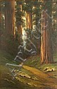 Richard DeTreville (American, 1864-1929) Path through the redwoods 26 x 18in, Richard DeTreville, Click for value