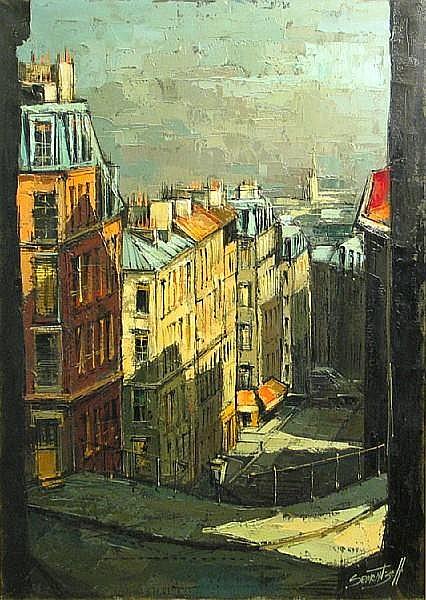 Michel Sementzeff (French, born 1933) Rue du Mont-Cenis, Montmartre, 1961 31 x 23 1/2in