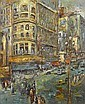 George Chann (Chinese/American, 1913-1995) Market Street, San Francisco 24 x 20in