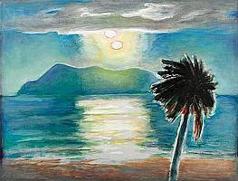 Frederick S. Wight (American, 1902-1986) Caribbean II, 1984 36 x 48in