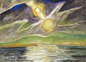 Frederick S. Wight (American, 1902-1986) Dawn II, 1983 48 x 66in