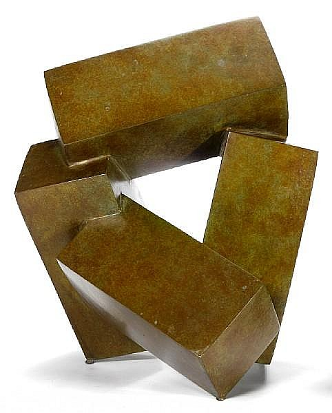 Jacques Schnier (American, 1898-1988) Four Cuboids on Three Points, 1984 15 x 13 x 12in