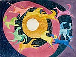 Tony Sheets (born 1942) Moon Circle (Dream Series) sheet 22 1/2 x 30 1/4in overall: 31 7/8 x 38 1/4in