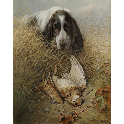 William Woodhouse (British 1857-1939) Spaniel with a woodcock 20 x 16 inches (51 x 40.5 cm.)