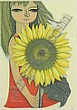 Shuzo Ikeda (Japanese, born 1922) Girl with Sunflower;, Shuzo Ikeda, Click for value