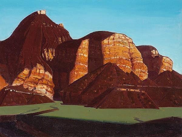 Conrad Buff (American, 1886-1975) 'Virgin River Country, Utah' 34 x 45in