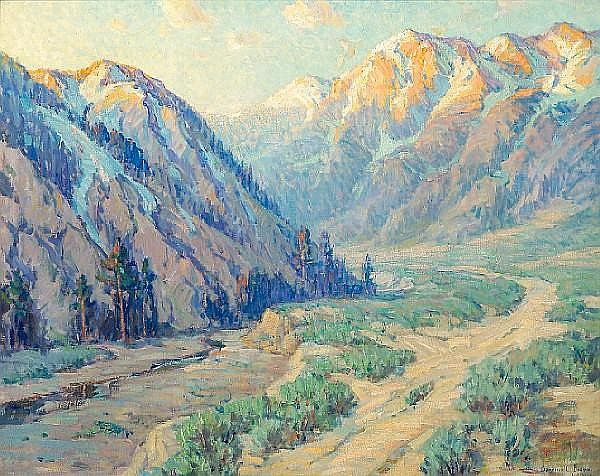 Benjamin C. Brown (1865-1942) San Gabriel Canyon 40 x 50in