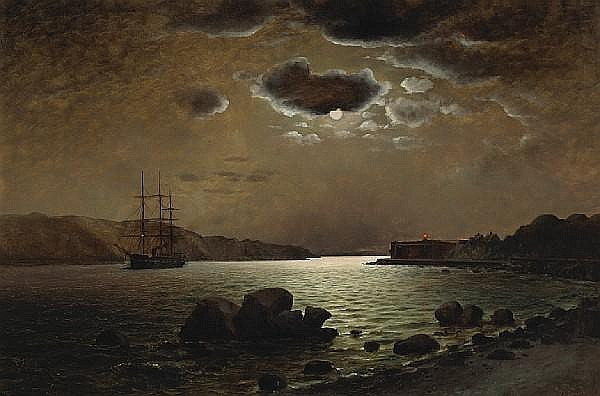 William Alexander Coulter (1849-1936) A view from Baker Beach looking towards Fort Point, San Francisco, 1885 32 x 48in