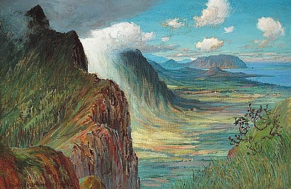 David Howard Hitchcock (American, 1861-1943) Pali, 1929 20 x 30in