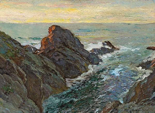 Paul Dougherty (American, 1877-1947) At sunset 26 x 36in