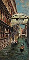 Bernardo Hay (British, born 1864) A view of a canal in Venice 28 x 14in, Bernardo Hay, Click for value